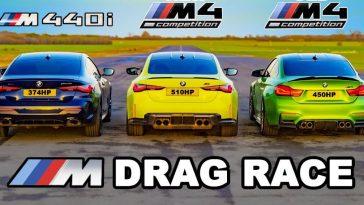 BMW G82 M4 vs F82 M4 vs M440i
