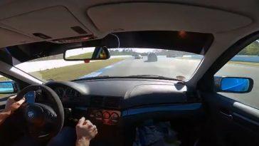 Golf GTI ramt hem vol in Audi RS3 tijdens Hockenheim Touristenfahrt