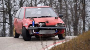 Suzuki Swift Turbo gaat dwars