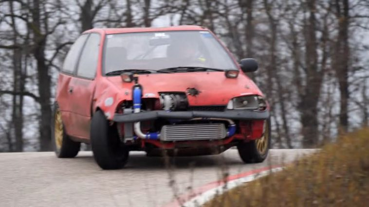 Suzuki Swift Turbo gaat dwars