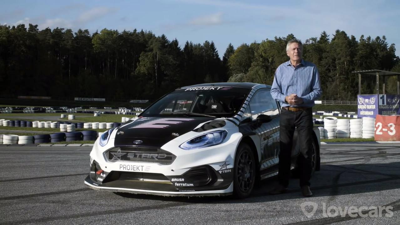 Tiff Needell test 600 pk sterke elektrische Rallycross-auto