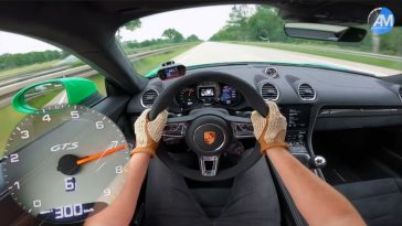 300 kmh in een Porsche Cayman GTS