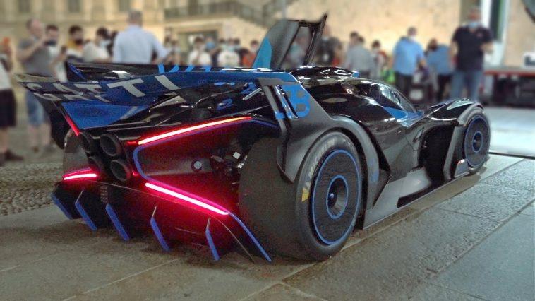 De cold start van Bugatti Bolide