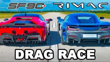 Ferrari SF90 Stradale vs nieuwe Rimac Nevera!