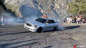 Mercedes C63 AMG crash donuts