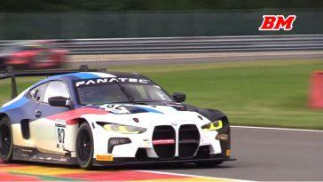 Nieuwe BMW M4 GT3 test op Spa-Francorchamps