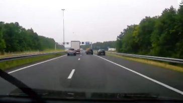 Slingerende automobilist op de A27 haalt halsbrekende toeren uit