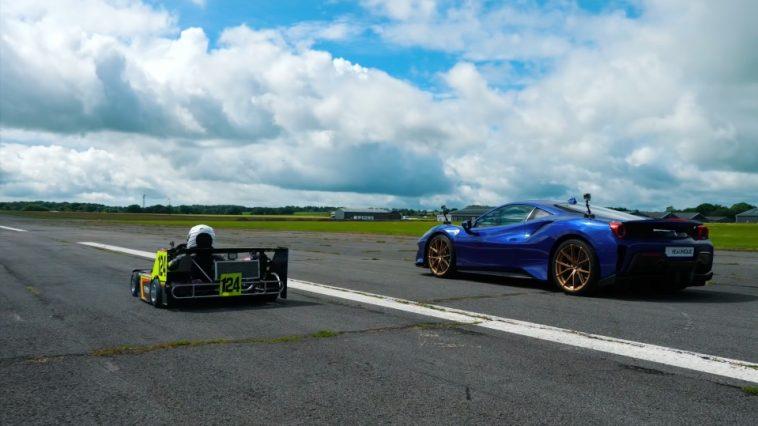 250cc Superkarts vs Ferrari 488 Pista