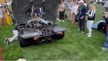 Man vergeet dat Porsche 917 in versnelling staat tijdens starten