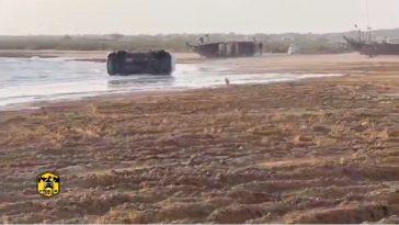 Toyota drift fail op het strand