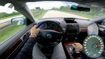 Volkswagen Touareg V10 TDI doet een Top Speed run