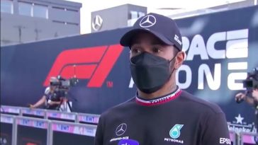 Lewis Hamilton reageert op crash met Max in GP Italië