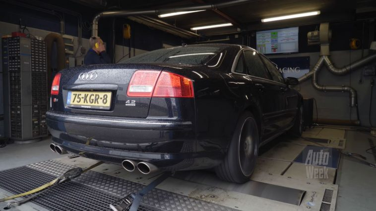 Op de Rollenbank - Audi A8 4.2 quattro