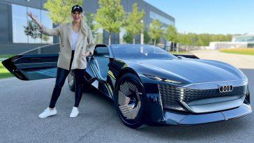 Supercar Blondie in de Audi Skysphere